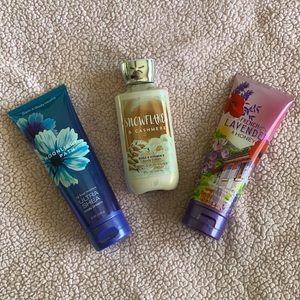 NWT Bath & Bodyworks bundle of 3 lotions